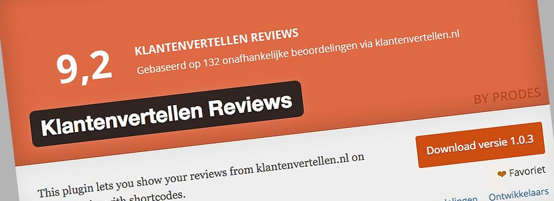 WordPress plugin: Klantenvertellen Reviews